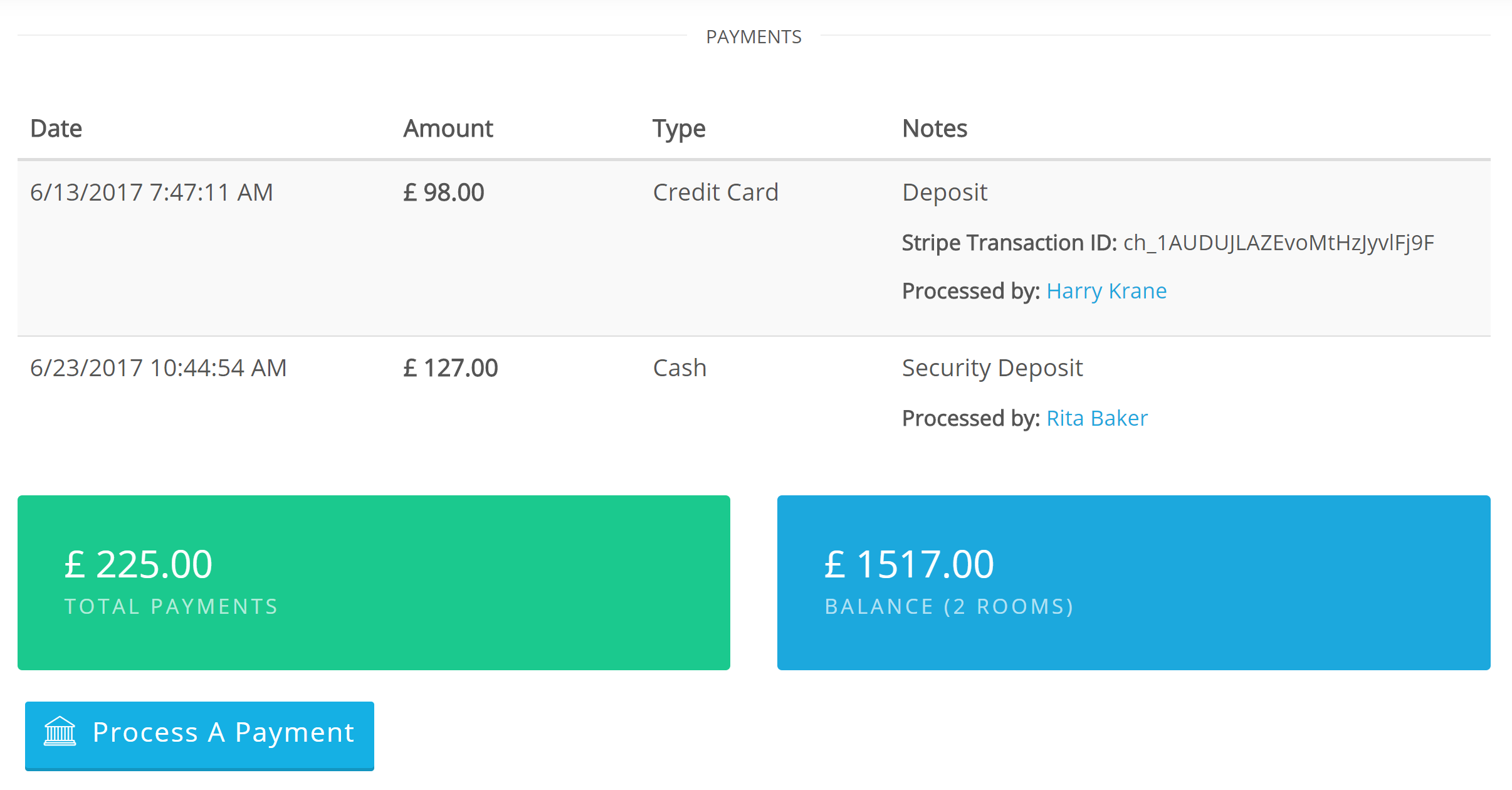 Process Multiple Payments Select & process payment on checkout